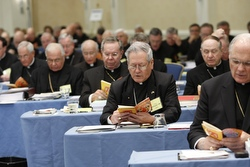 BISHOPS JOIN IN PRAYER DURING OPENING SESSION OF GENERAL MEETING IN BALTIMORE