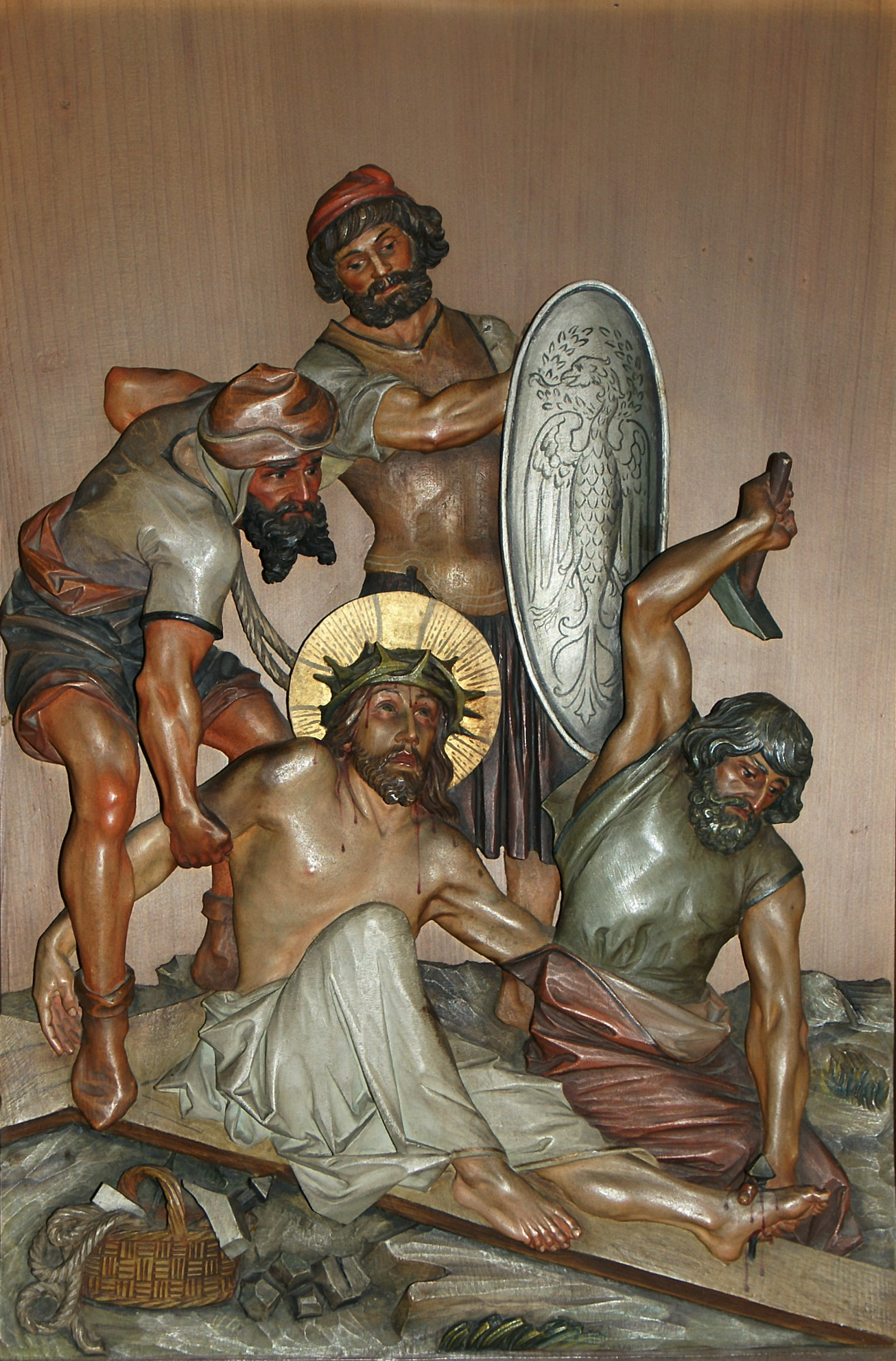 The Eleventh Station: Jesus is Nailed to the Cross – Shameless Popery