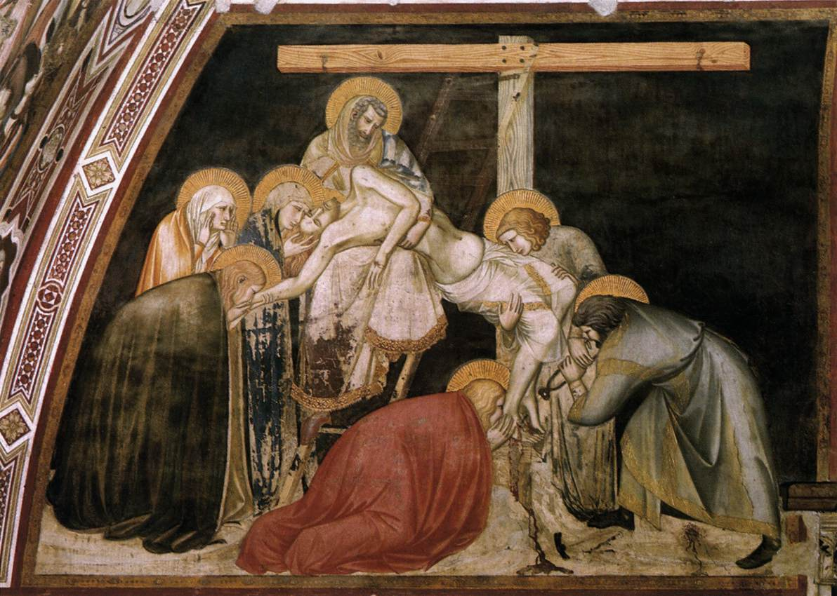 the thirteen station jesus is taken down from the cross