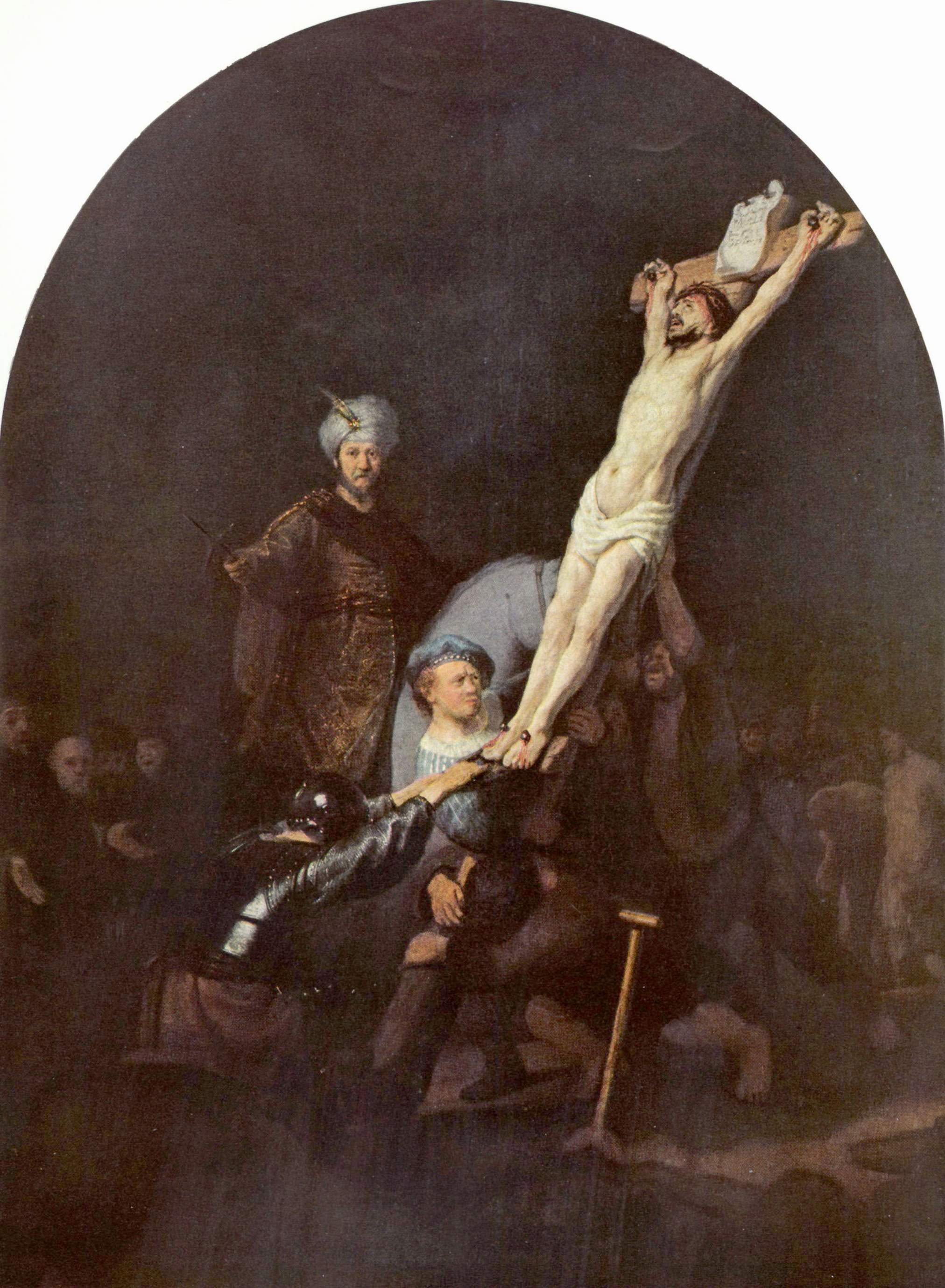 the eleventh station jesus is nailed to the cross u2013 shameless popery