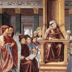 Benozzo_Gozzoli_-_St_Augustine_Teaching_in_Rome_-detail-_-_WGA10291