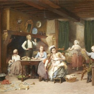 Charles_Auguste_Romain_Lobbedez_Family_time