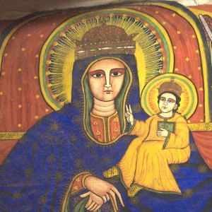 Virgin Mary and Jesus, from the Church of Our Lady Mary of Zion, Axum, Ethiopia.