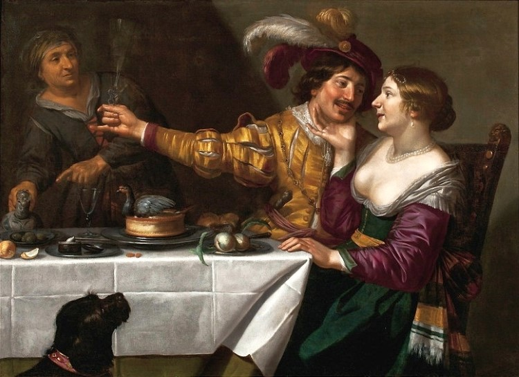 Jan van Bijlert, At the Procuress (17th c.)