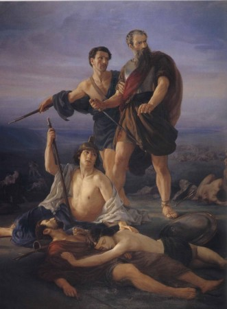 Elie Marcuse, Death of King Saul (1848)