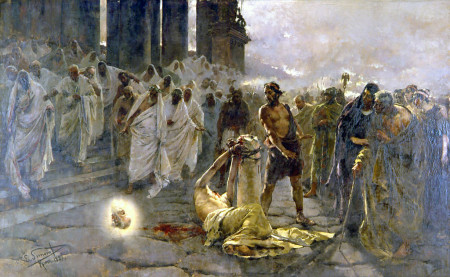 Enrique Simonet, The Beheading of Saint Paul (1887)