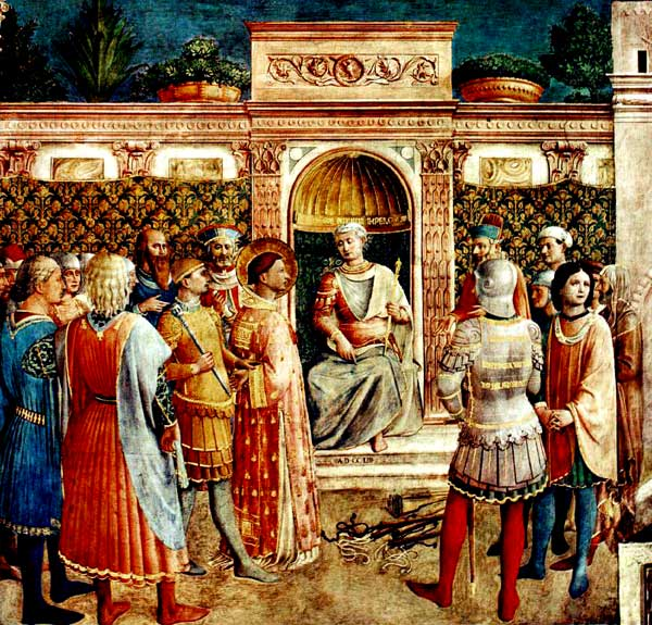 Fra Angelico, Trial of Justin The Philosopher (1450)