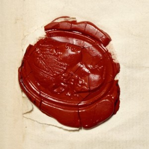 Wax seal, from a letter of Lord Nelson (1801).
