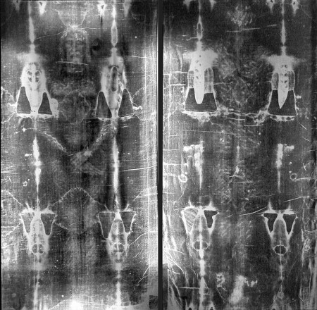 Photo negative of the Shroud of Turin