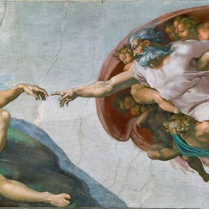 Michelangelo, Creation of Adam (Sistine chapel) (1512)