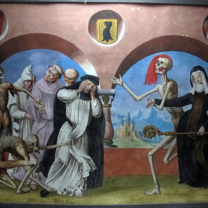 From the Danse Macabre (Dance of Death) of the Dominican cemetery of Bern, Germany
