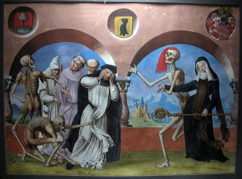 From the Danse Macabre (Dance of Death) of the Dominican cemetery of Bern‎, Germany
