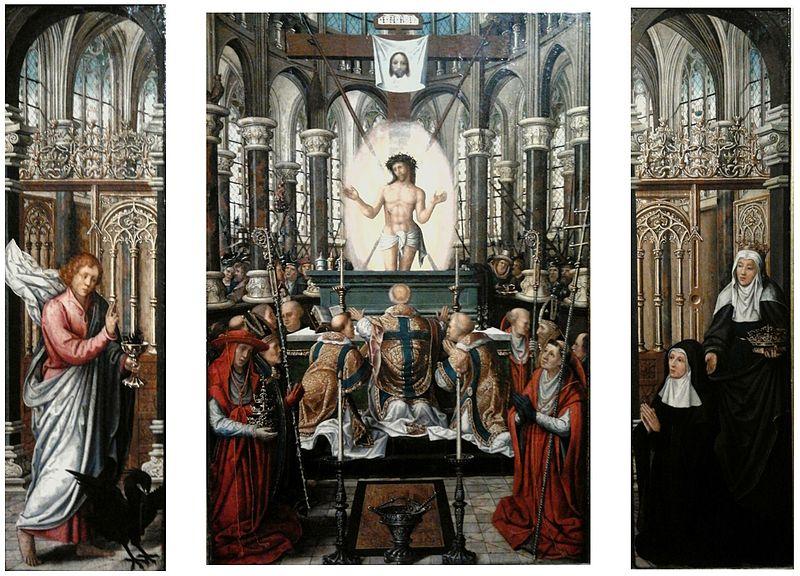 Israhel van Meckenem, Mass of St. Gregory (15th c.)