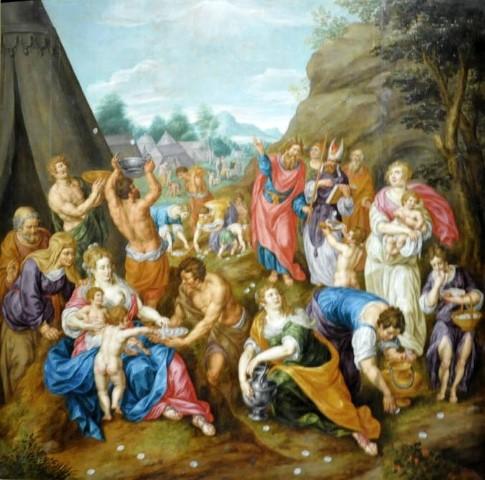 Hendrick de Clerck, Israelites Gathering Manna (c. 1620)