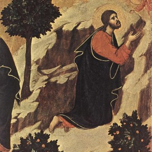 Duccio di Buoninsegna, Agony in the Garden (detail) (1310)
