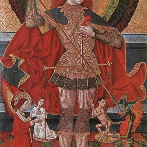 Juan de la Abadía, Saint Michael Weighing Souls (1490)