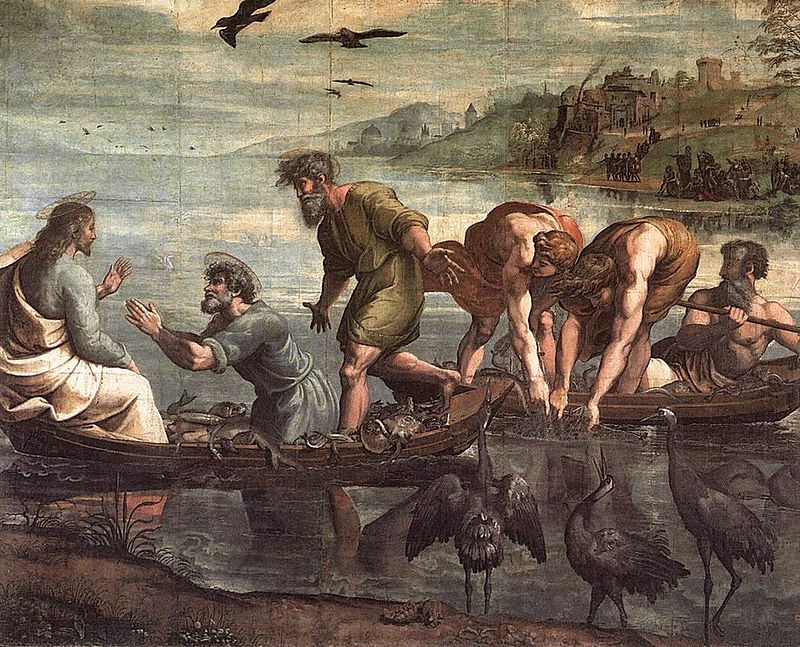 Raphael, Miraculous Draught of Fishes (1515)