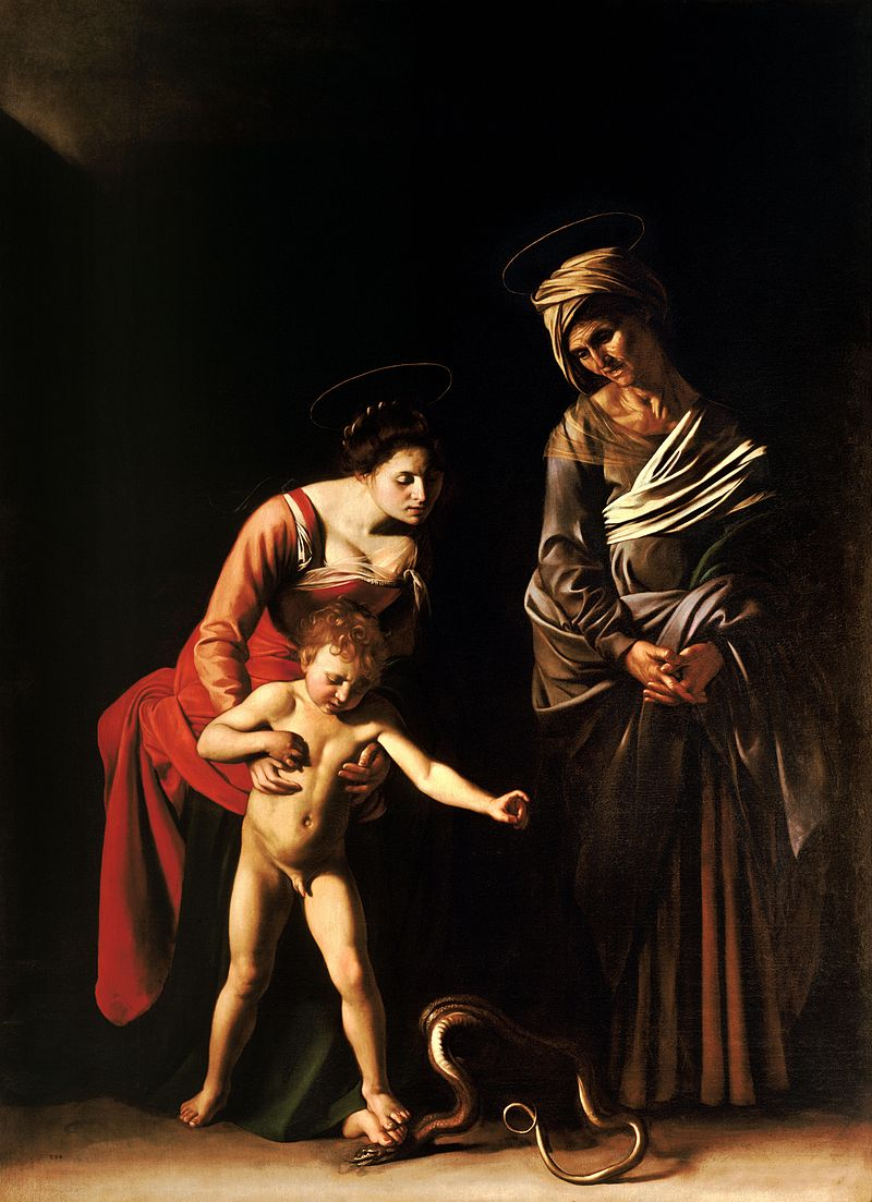 Caravaggio, Madonna and Child with St. Anne (1606)