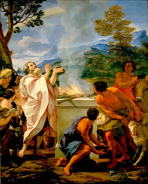 Il Baciccio, The Thanksgiving of Noah (1700)