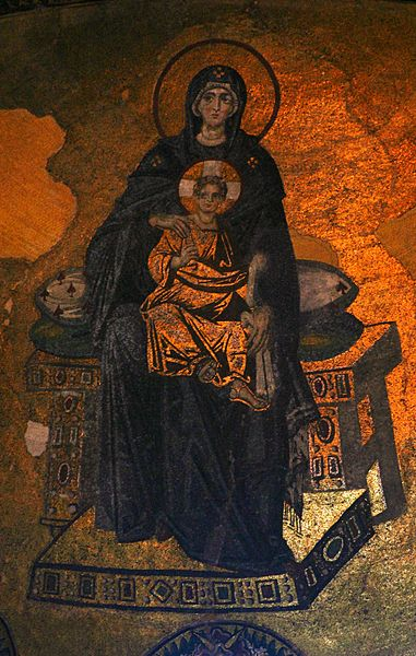 Virgin and Child, Hagia Sophia mosaic (867)