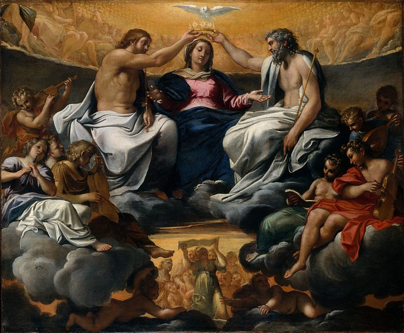 Annibale Carracci, Coronation of the Virgin (c. 1596)