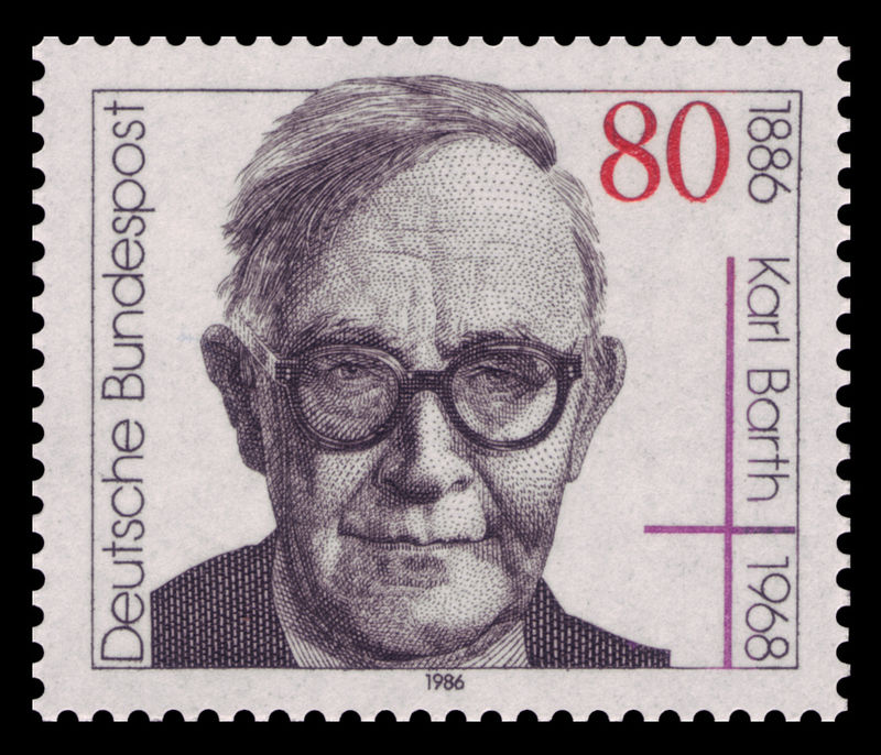 German postage stamp honoring Karl Barth's 100th birthday