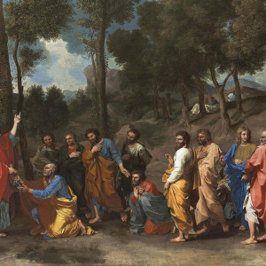 Nicolas Poussin, The Sacrament of Ordination (Christ presenting the Keys to Saint Peter) (1630s)