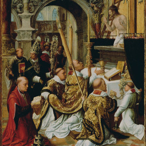 Adriaen Ysenbrandt, The Mass of Saint Gregory the Great (16th c.)