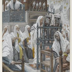 James Tissot, Jesus Unrolls the Book in the Synagogue (c. 1890)