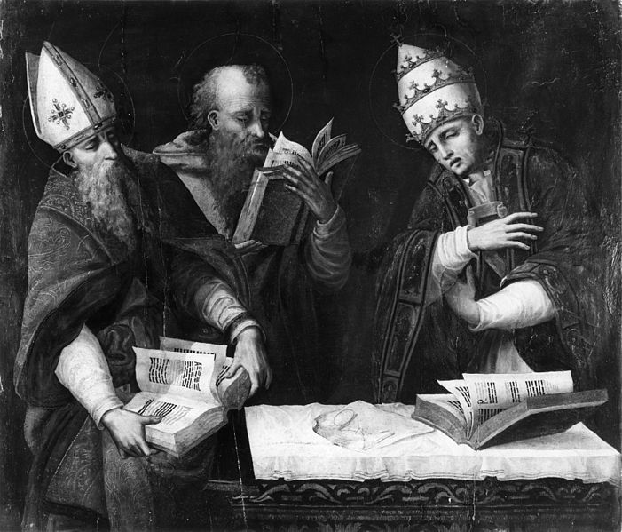 Marco Cardisco, Saints Augustine, Jerome and Gregory the Great (16th c.)