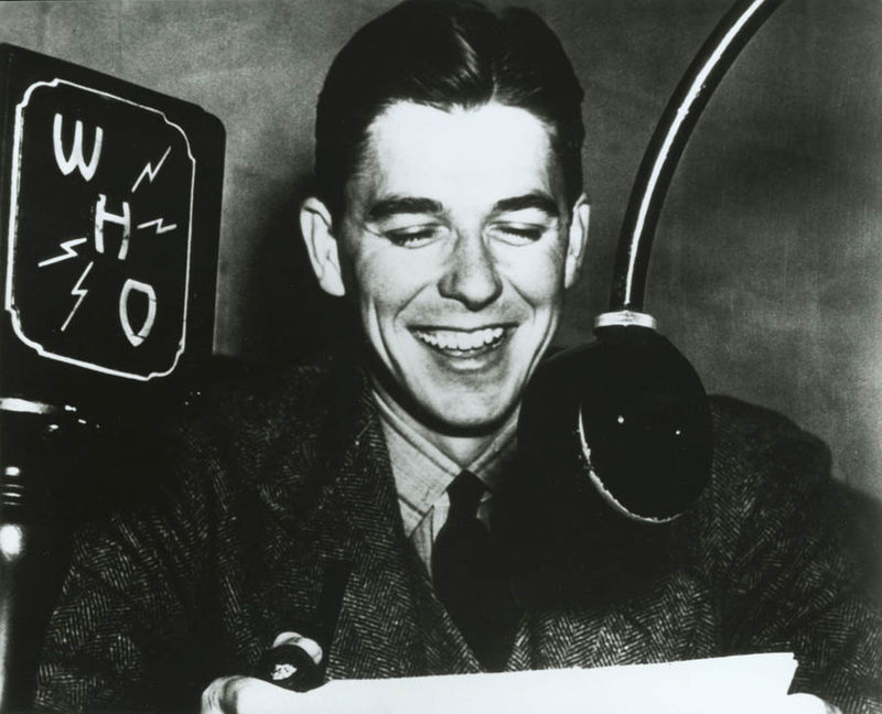 Ronald Reagan as a radio announcer, 1934-37
