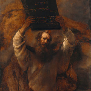 Rembrandt, Moses Smashing the Tablets of the Law (1659)