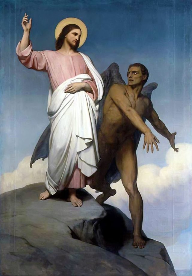 Ary Scheffer, The Temptation of Christ (1854)