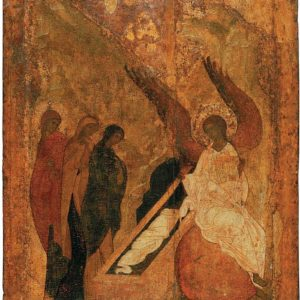 Workshop of Daniel Chorny and Andrey Rublev, Icon of the Women at the Grave (1420s)
