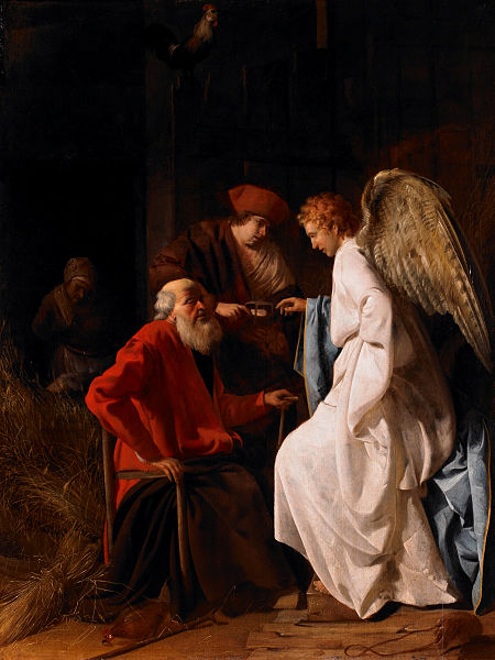 Simon Hendricksz, Tobias and the Angel Curing Tobit of Blindness (1630)