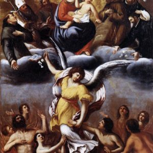 Ludovico Carracci, An Angel Frees the Souls of Purgatory (1610)