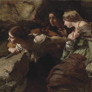 James Sant, Courage, Anxiety and Despair - Watching the Battle (1850)