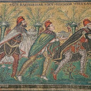 The Three Wise Men, from a mosaic in the Basilica of Sant'Apollinare Nuovo in Ravenna, Italy (pre-526 A.D.)