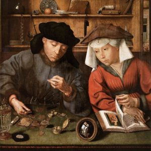 Quinten Massijs, The Moneylender and his Wife (1514)