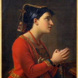 Moritz Calisch, Young Italian Woman Praying (1850)