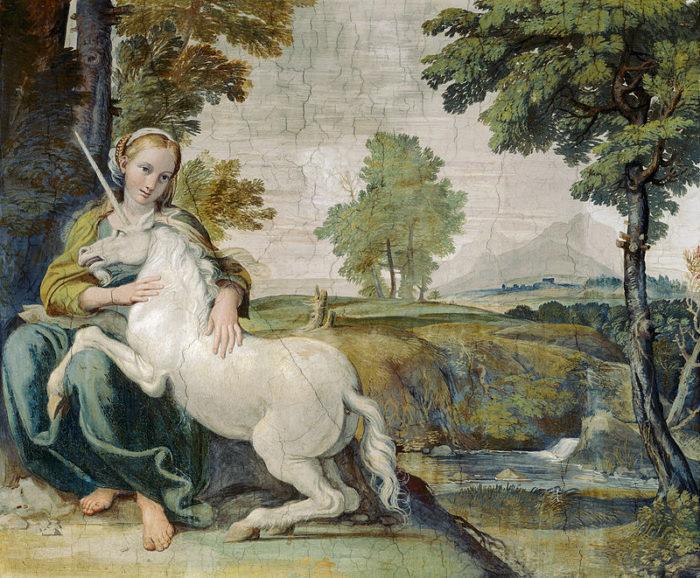 Domenichino, The Virgin with the Unicorn (1605)