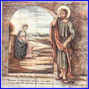 Joys and Sorrows of St. Joseph Palmira Laguéns, The Sorrows and Joys of St. Joseph: The First Sorrow (20th c., Sanctuary of Torreciudad)