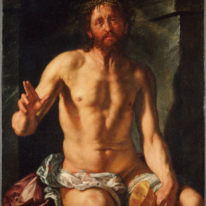Hendrick Goltzius, Man of Sorrows with a Chalice (Christ as Redeemer) (1614)