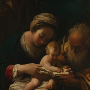 Bartolomeo Schedoni, The Holy Family with the Virgin teaching the Child to Read (1615)