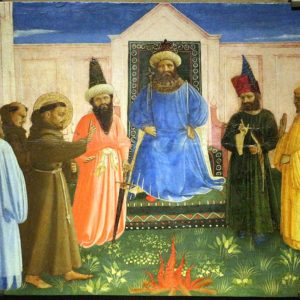 Fra Angelico, The Trial By Fire Of St. Francis Before The Sultan (1429)Fra Angelico, The Trial By Fire Of St. Francis Before The Sultan (1429)