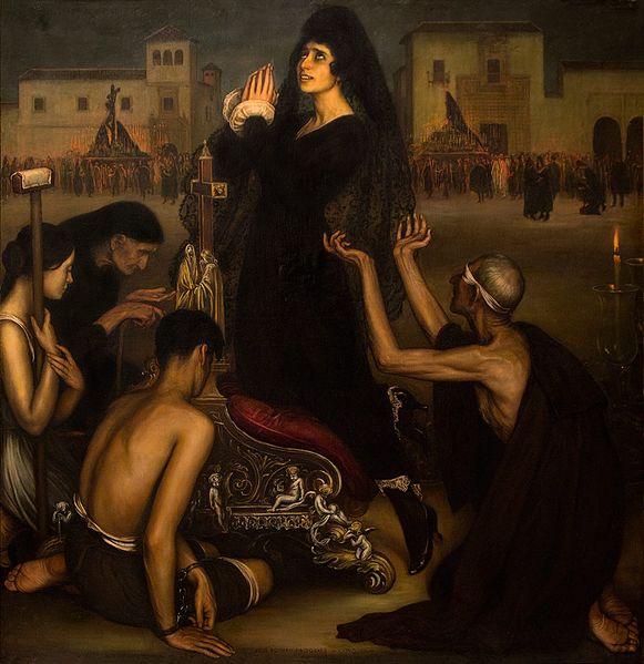 Julio Romero de Torres, La Saeta (1918)