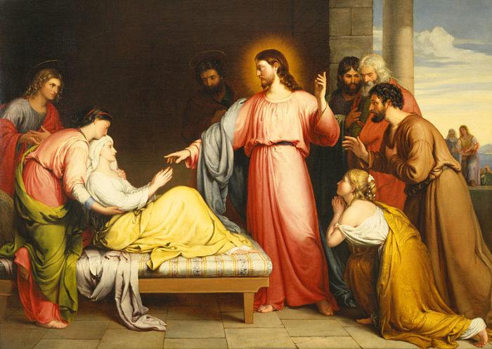 John Bridges, Christ Healing the Mother of Simon Peter's Wife (1839)
