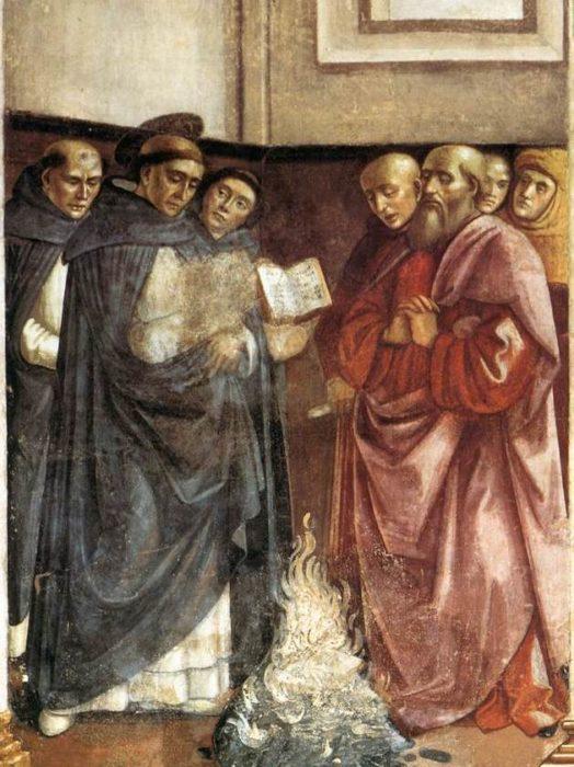 Domenico Ghirlandaio, St Dominic Burning Heretical Writings (1490)