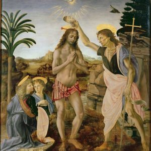 Andrea del Verrocchio / Leonardo da Vinci, The Baptism of Chirst (1475)