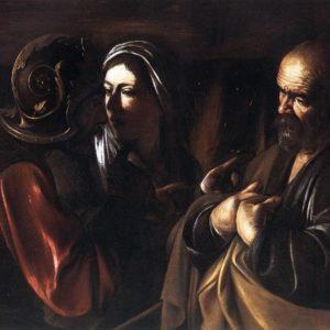 Caravaggio, Denial of St. Peter (1610)